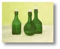 Obraz olejny - Butelki - Malarstwo - Celina Dobke